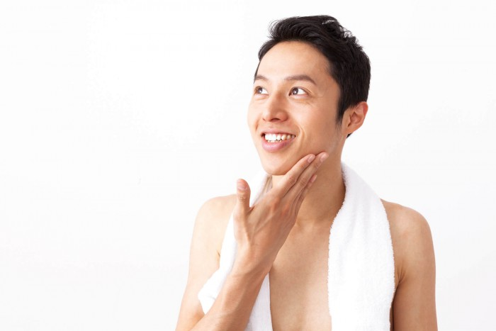入浴後の男性